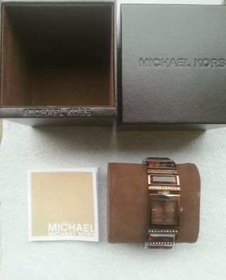 Michael Kors Damenuhr Gold Espresso Animal Mk4267 Bild