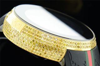 Männer Gelben Voll I Gucci Digitale Ya114207 Kanarienvogel Diamant Uhr 3,  3 Ct Bild