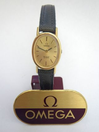 Vintage Omega Damenuhr Quartz Cal 1350 Ladies Wristwatch Damenarmbanduhr Top Bild