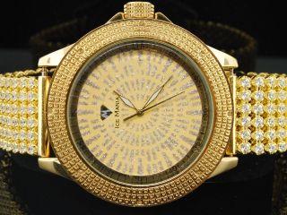 Herren Ice Mania Jojino Joe Rodeo - Diamant - Uhr 6 Reihen Gelb Band Im3020 Bild