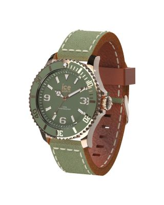 Ice - Watch Ice - Canvas Khaki Unisex Ca.  Ka.  Rg.  U.  C.  14 Braun Ovp Bild