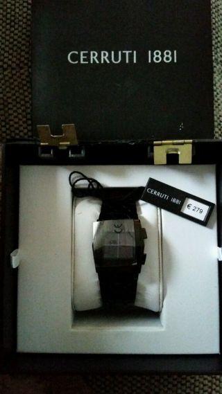 Cerruti 1881 Damenuhr Lp 279€ Inkl Ovp Etc.  Led Digital Uhr Pearl Black Bild