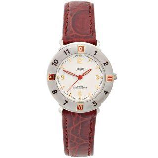 Jobo Damenuhr Damenarmbanduhr Uhr Quarz - Analog Leder Armbanduhr J - 37316 Bild