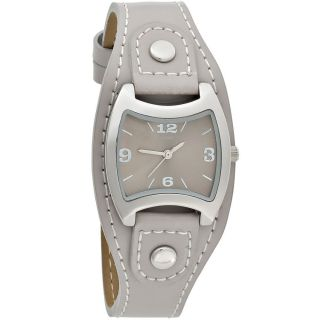Jobo Damenuhr Damenarmbanduhr Uhr Quarz Armbanduhr Graues Lederband J - 37299 Bild