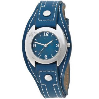 Jobo Damenuhr Damenarmbanduhr Uhr Quarz Armbanduhr Blaues Lederband J - 37323 Bild