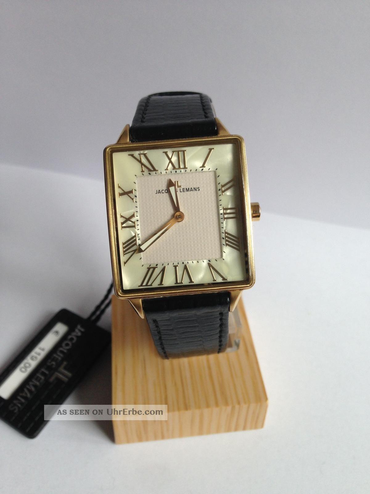 Jacques Lemans Herren Uhr GehÄuse Goldplattiert Und Ungetragen Armbanduhren Bild