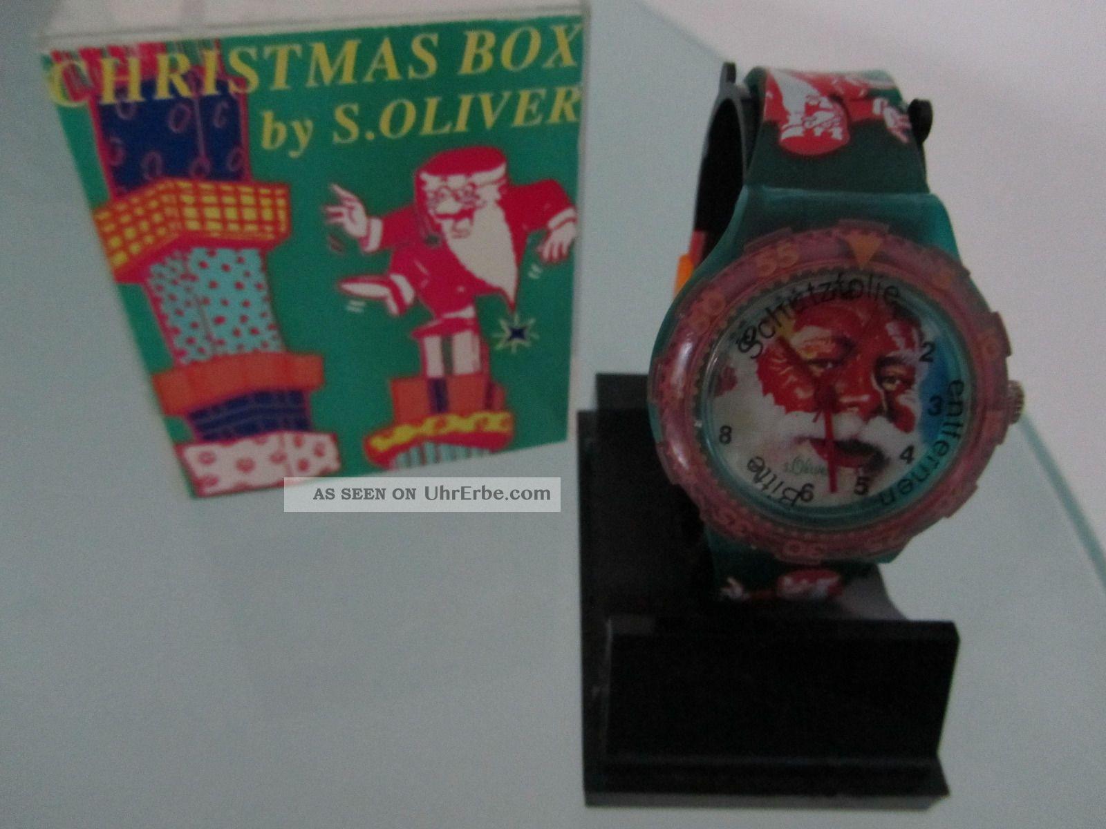 S.  Oliver Uhr Weihnachtsuhr Mitarbeiteruhr Jubiläumsuhr Rarität Armbanduhren Bild