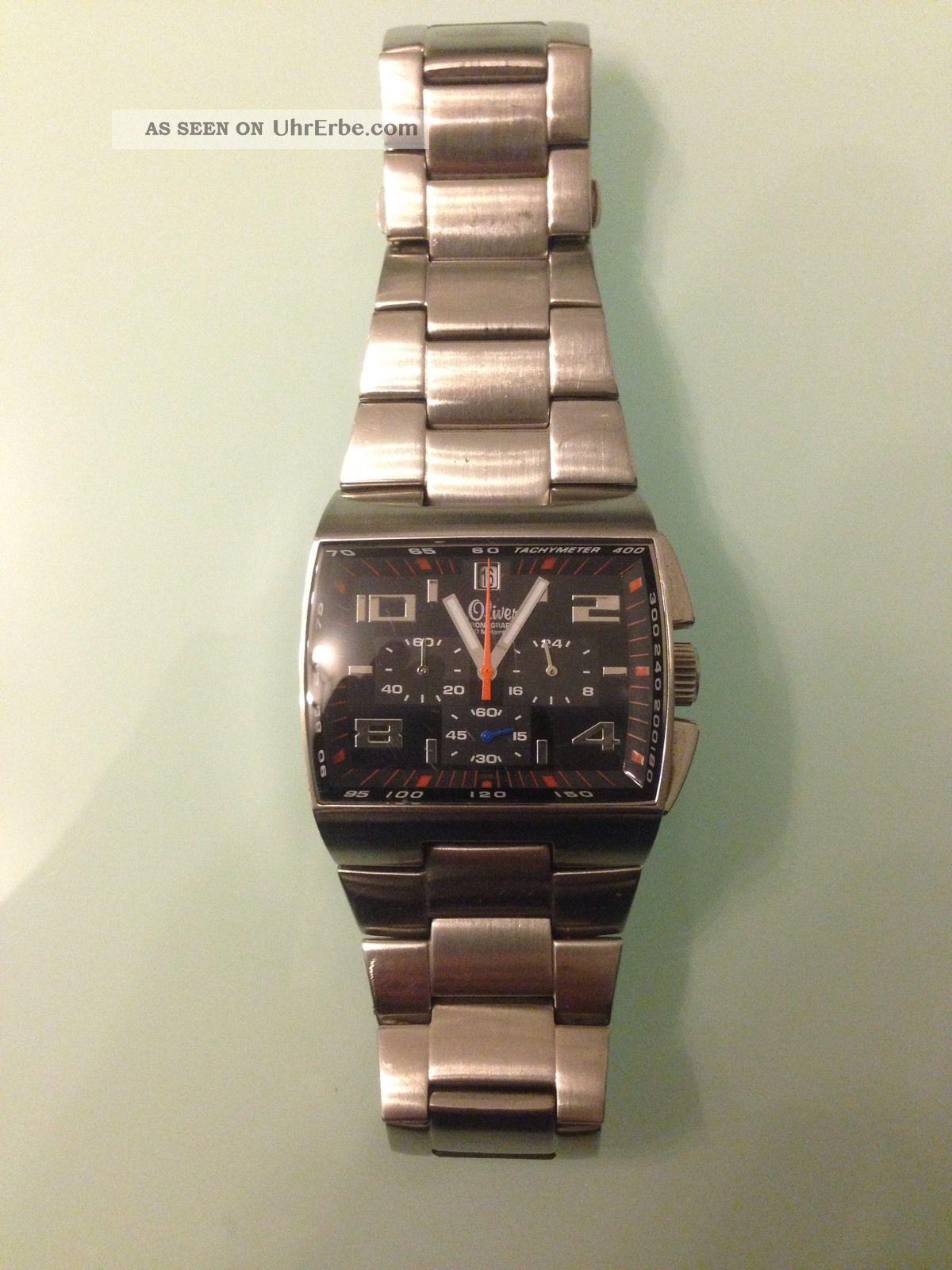 S.  Oliver Herren Armbanduhr Chronograph Silber Armbanduhren Bild