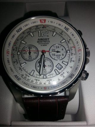 Ascot Montreux Chronograph Limited Edition 2011 Ungetragen Und Bild
