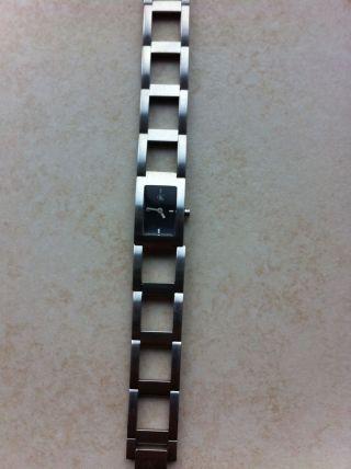Ck Uhr Damen Silber Schwarzes Ziffernblatt Calvin Klein Bild