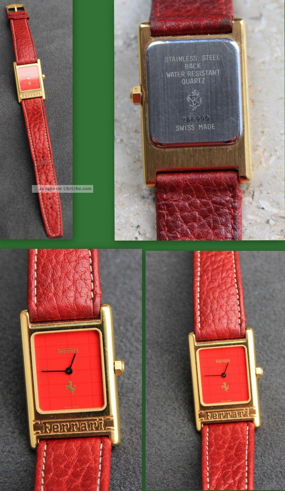 Ferrari Uhr Damen Armbanduhr Damenuhr Lederamrband Armbanduhren Bild