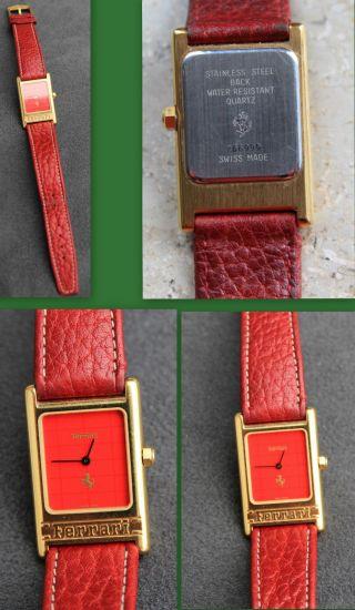Ferrari Uhr Damen Armbanduhr Damenuhr Lederamrband Bild