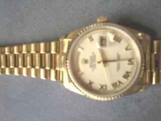 WunderschÖne Rolex Herrenuhr 750 Ref.  18238 Sportl.  Klassisch Elegant Bild