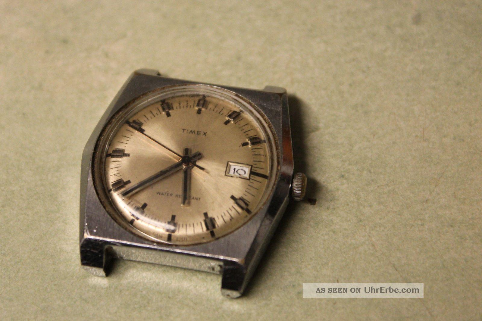 Timex 60er Läuft Nicht Muß Nachgesehen Werden. Armbanduhren Bild
