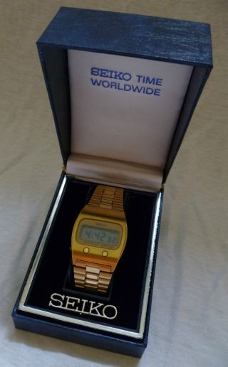 Seiko Lcd Quartz Digital Uhr 70er Jahr Old Watch Alt Rar Bild