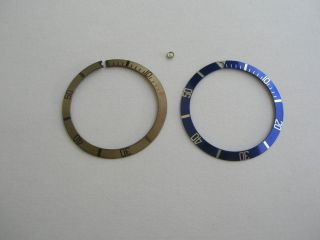 Bezel Inserts With Spare Pearl For Vintage Rolex And Tudor Submariner Bild