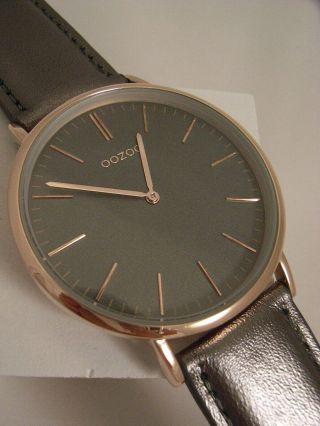 Oozoo Uhr Ultra Slim C6947 Ø Ca.  40 Mm Vintage Silver Grey Neuheit Armbanduhr Bild