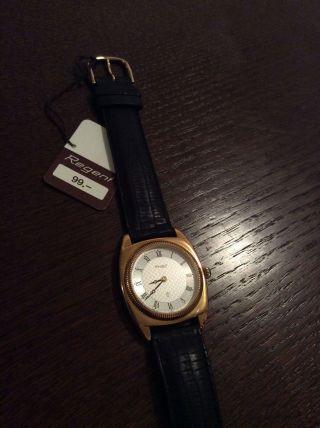 Regent Damen Herren Uhr Armbanduhr Armband Uhr Schwarz Unisex Leder Bild
