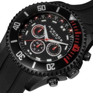 Herren Armbanduhr Ak597rd Akribos Xxiv Tag Datum Gmt Silikon Groß Bild