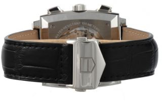 Tag Heuer Monaco Caw2110.  Fc6177 Mens Schwarz Leder Armbanduhr Neu&original Bild