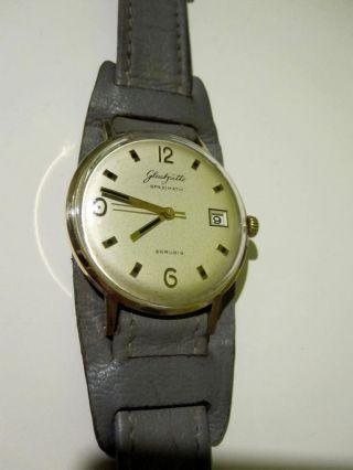 Nachlass Alte Glashütte Herrenarmbanduhr Automatic,  Originalarmband 70er Jahre Bild