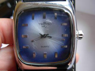 Tempic En Vogue Quartz Armbanduhr Blau M.  Schwarzem Uhrband Bild
