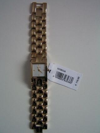 Dkny Ny 8034 Armbanduhr Für Damen Gold Bild
