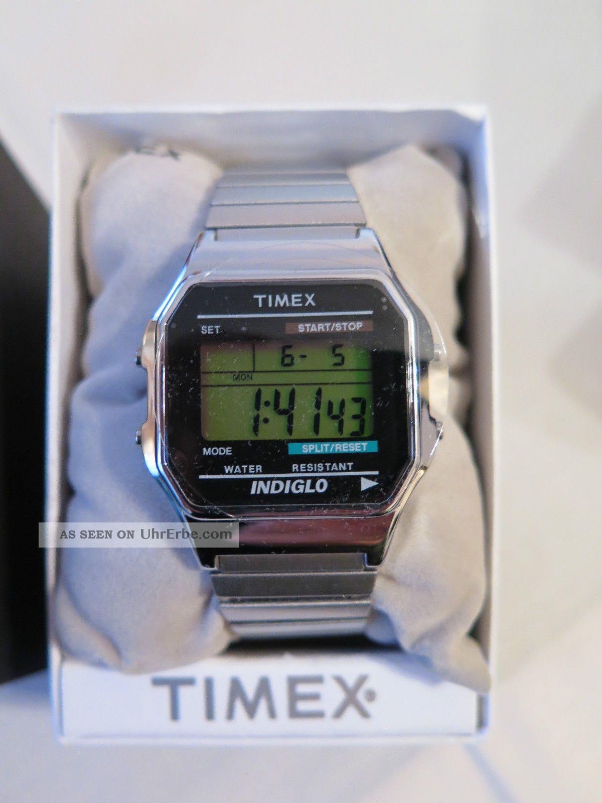 Timex T78587 Digital Armbanduhr Digital Quarz,  2.  Gratis Uhr Silber Unisex Armbanduhren Bild