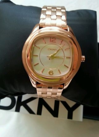 Dkny Designer Armbanduhr Rotgold Bild