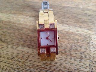 Jette Joop Uhr Armbanduhr Gold Farbe Mit Zirkonia Perlmutt Ziffernblat Bild