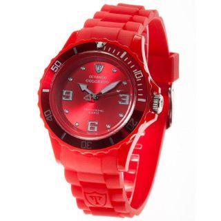 Detomaso Trend Damenuhr Colorato Red Analog Silikon Dt3007 - E Armbanduhr Uhr Bild