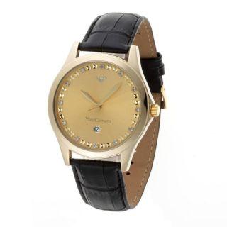 Yves Camani Golden Big Twinkle Gold/schwarz Armbanduhr Damenuhr Bild
