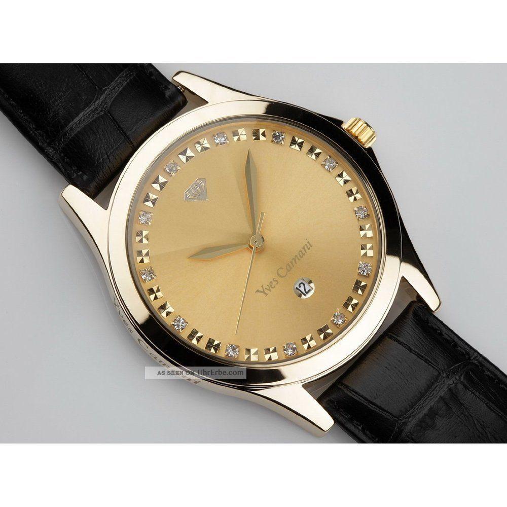 yves camani golden big twinkle gold schwarz armbanduhr. Black Bedroom Furniture Sets. Home Design Ideas
