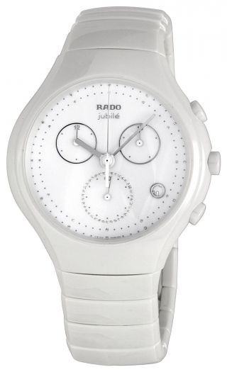 Armbanduhr Rado True R27832702 Herren Weiss Keramik Chrono Uhr Ovp Bild