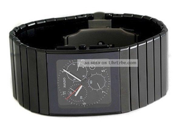 Rado R21715162 Ceramica Herren - Chronograph Aus Schwarz Keramik Uhr - Im Kasten Armbanduhren Bild