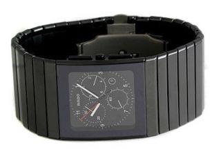 Rado R21715162 Ceramica Herren - Chronograph Aus Schwarz Keramik Uhr - Im Kasten Bild