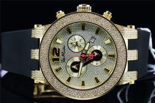 Joe Rodeo Broadway Jrbr3 Diamant Uhr Polyurethan Band Gelbe Zifferblatt 5 Ct. Bild