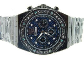 Herren Jojino / Jojo/ Joe Rodeo Shwarz&blau Diamant - Uhr Wahl 1.  75ct Ij - 1094 Bild