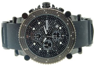 Herren Jojino/jojo /joe Rodeo Diamant Uhr Crush Wahl.  25k Ion Finish49mm Mj1131 Bild