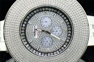 Armbanduhr Herren Weiß Jojino Joe Rodeo Platin 0.  15k Diamant Uhr Ij1141 Bild