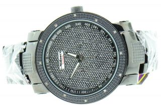 Herren - Diamantuhr Pvd Jojino Joe Rodeo,  0.  20ct,  Schwarz,  Illusion - Zifferblatt,  J342 Bild