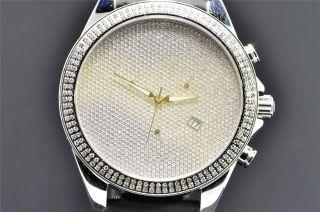Armbanduhr Artica Diamant Uhr Crush Illusion 2 Reihen Einfassung 1.  5k Datum Bild