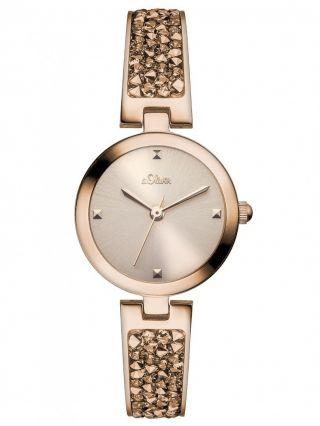 S.  Oliver Damen Uhr So - 2944 - Mq Damenuhr Edelstahl Rosé Ladie´s Watch 5 Atm Bild