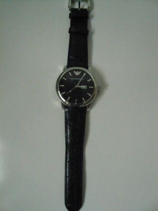 Emporio Armani Leder Armbanduhr Bild