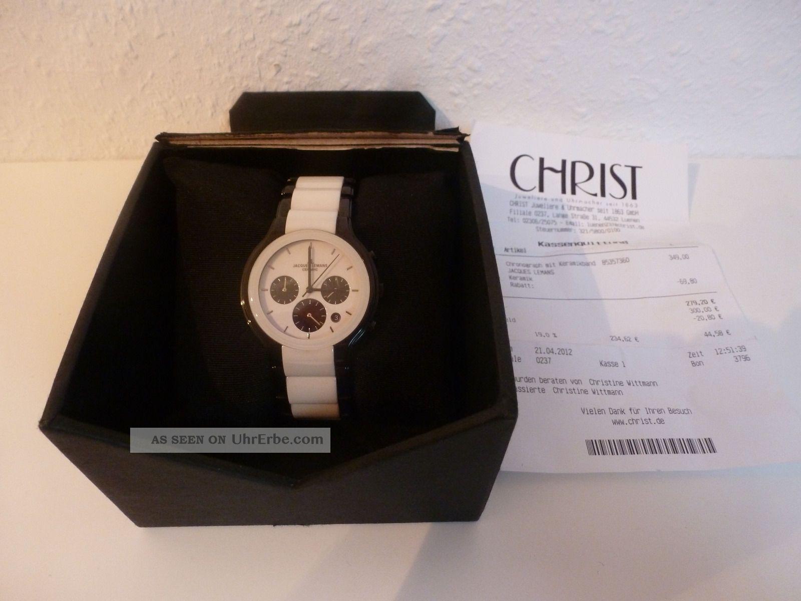 Herrenuhr Jacques Lemans Chronograph Ceramic 1 - 1580 Armbanduhren Bild