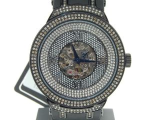 Mann - Joe Rodeo Master Automatik Schwarz Diamond Finish Uhr Jojino 2.  20 Ct Jjm73 Bild
