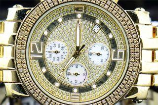 Herren Gelb Tone Jojino Joe Rodeo 0,  25 Ct.  Diamant - Uhr Rundes Gehäuse Mj1056a Bild