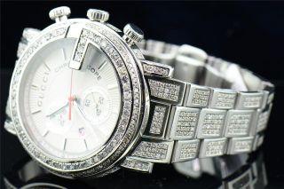 Diamant Gucci Uhr Ya101339 Herren 16,  50 Ct Individuelle G Lünette Armband Bild