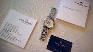Maurice Lacroix Herrenuhr Miros Chronograph Mi1077 Edelstahl,  Faltschließe - Ovp Bild