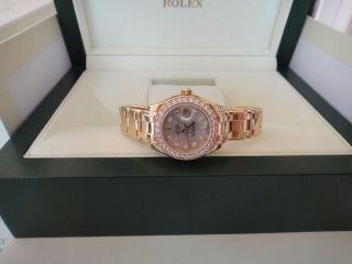 Rolex Datejust Lady Pearlmaster 18 Kt Gelbgold Mit Brillianten Bild